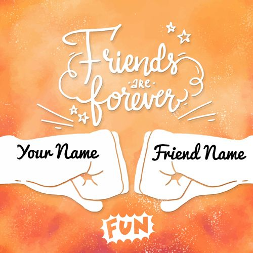 Amazing Friendship Day Greeting Card With Your Name Print Name On