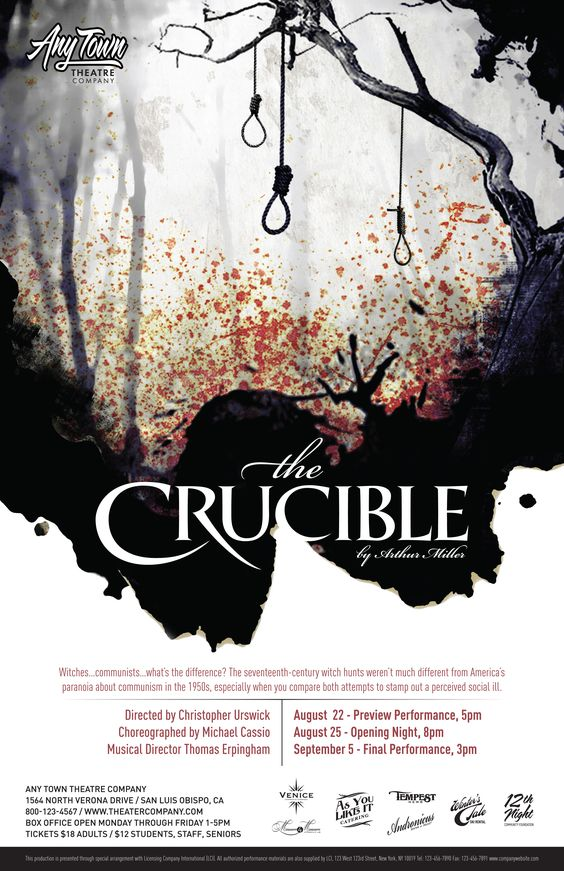 the crucible imagery Symbols of the cruciblethe doll -what original started of as an innocent gift from a scared little girl turned into tangible evidence to put poor mrs goody proctor.