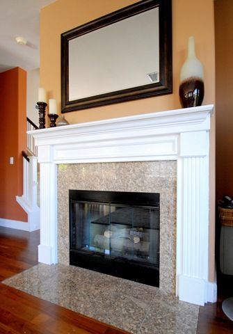 Oak Mantel Makeover Flats Fireplaces And Fireplace Mantels