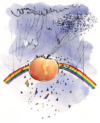 Resultado de imagen de roald dahl james and the giant peach quentin blake