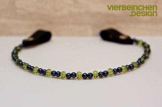Perlenstirnband  by Vierbeinchen.Design