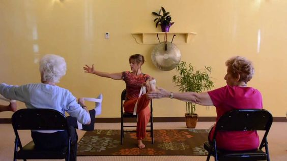 This is an awesome video of an adaptive yoga class for older adults. I took some moves from this video to do a yoga session for our leadership presentations in RTH 252.