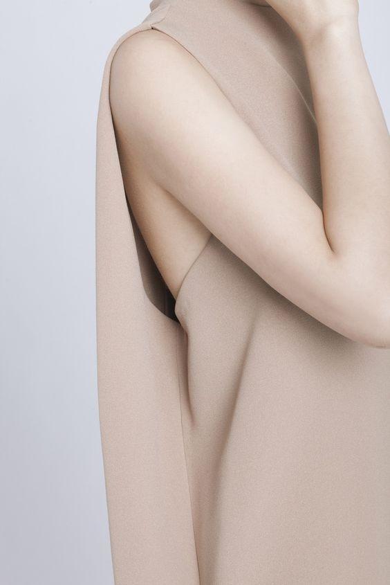 pinned by barefootblogin.com  CAMEL DILL HIGH COLLAR DRESS by Kaarem: