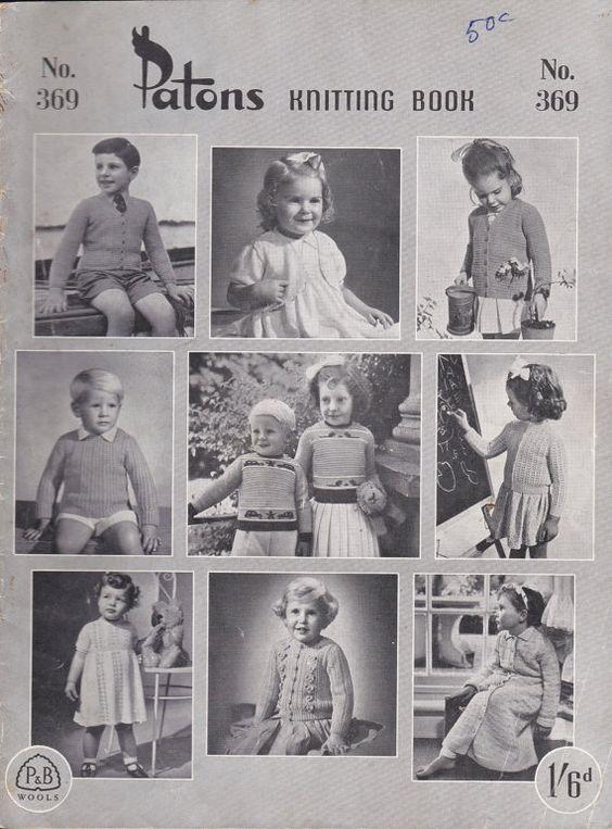 Paton's & Baldwins  Knitting Pattern No 369  by jennylouvintage