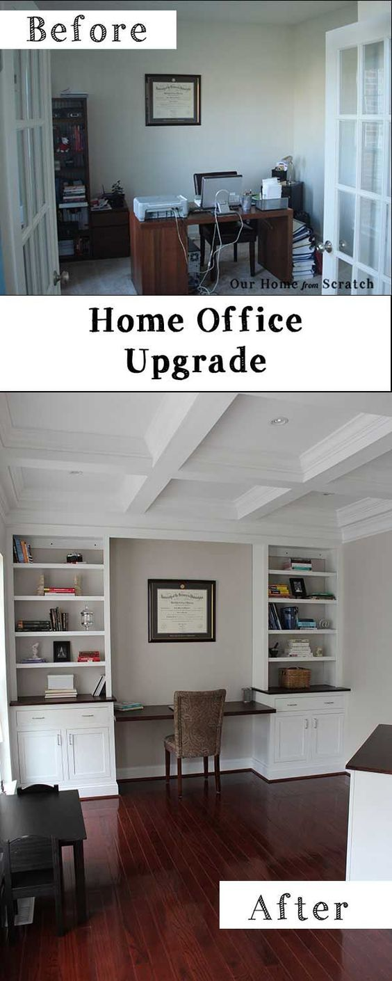 Home office remodel before and after diy home garden for Home office renovation ideas