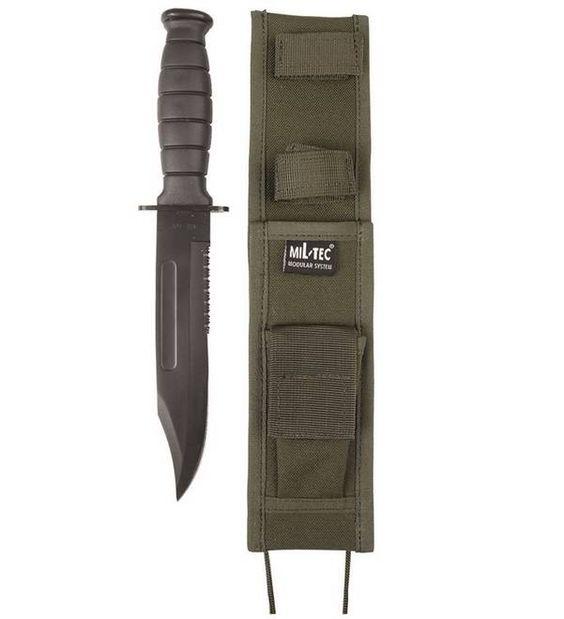 Mil-Tec Kampfmesser US Army, mit Scheide, oliv / mehr Infos auf: www.Guntia-Militaria-Shop.de