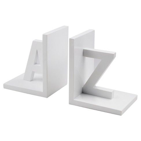 A Z Bookends White Room Essentials Target Room Essentials