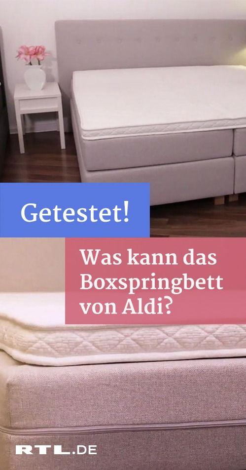 Was Taugt Das Boxspringbett Von Aldi Boxspringbett Bett Und Aldi