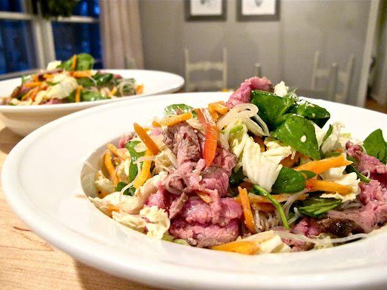 Thai Steak Noodle Salad: Asian Recipes, Thai Salads, Food Yummy, Thai Recipes, Noodle Salads, Food Drink, Hobick Thai, Favorite Recipes, Yums Salads
