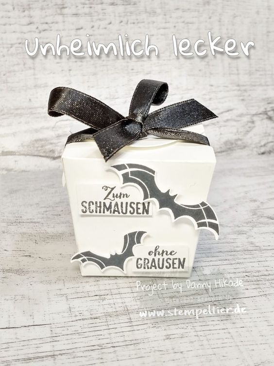 Stampin Up Fledermaus unheimlich lecker Halloween bat punch treatbox Verpackung