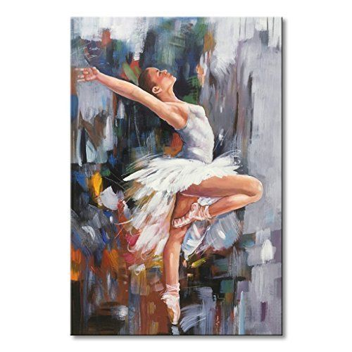 ZWPT1126 Girl performing ballet portrait handmade oil painting art on Canvas
