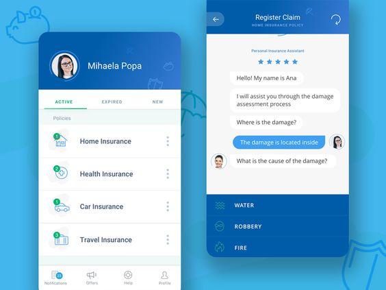 Insurance Wallet App Design