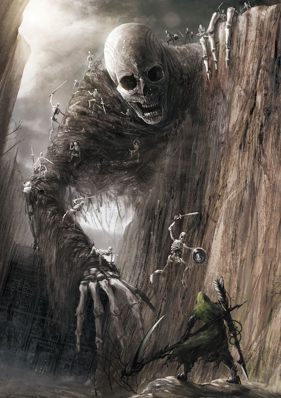 Giant Skull – fantasy/horror concept by Eiich Matsuba.....Wow.....does he seem angry to you?: