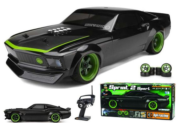 HPI Racing 109299 Sprint 2 Sport RTR w/1969 Mustang RTR-X Body 1/10 #HPIRacing