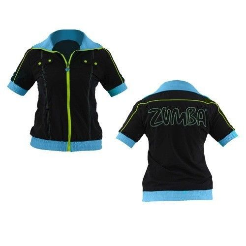 Zumba Fitness Iconic Cropped Jacket - Black - NEW
