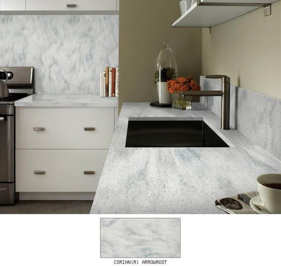 Corian® Arrowroot | Designing in Shades of Gray | Pinterest ...