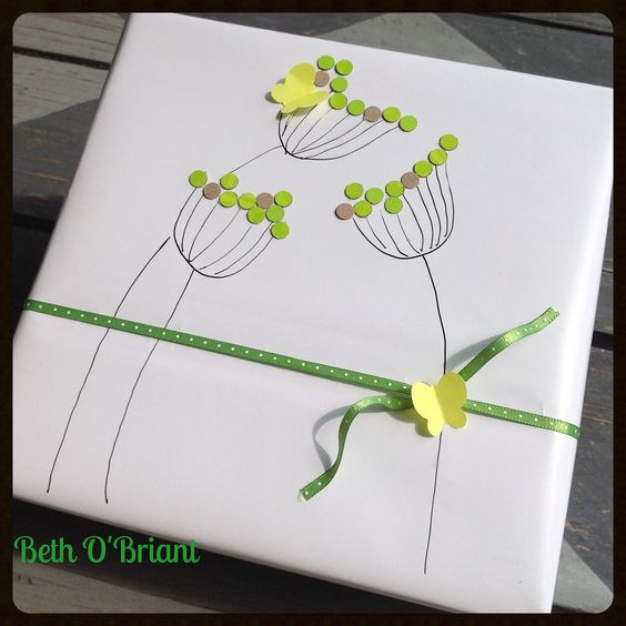 Simple Green Flowers Gift Wrap | Flickr - Photo Sharing!: