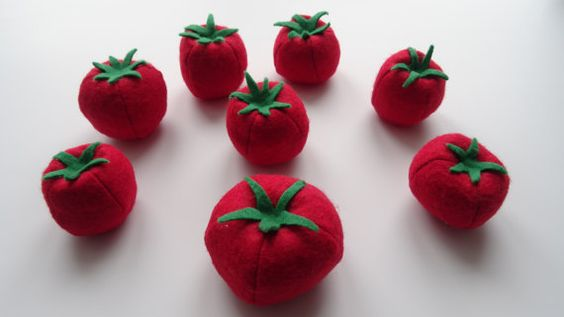 Juicy tomatoes felt food set Felt food Play food by NeymoStore