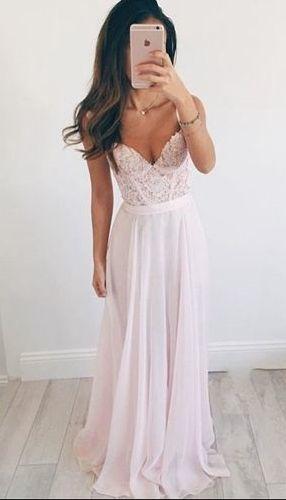 Elegant Pink Chiffon Prom Dress,Long Prom Dress,Beautiful Prom Dresses by…