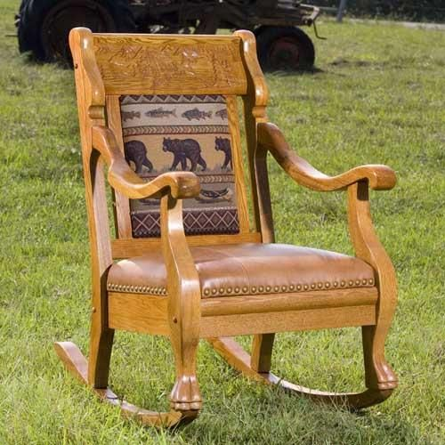 Vintage Log Cabin Oak Rocker By Country Road Furniture At Rocky Mountain  Decor | Lodge/Cabin Decor | Pinterest | Mountain Decor, Log Cabins And  Rockers