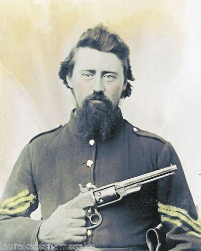 Union Sergeant with rare Savage Revolver