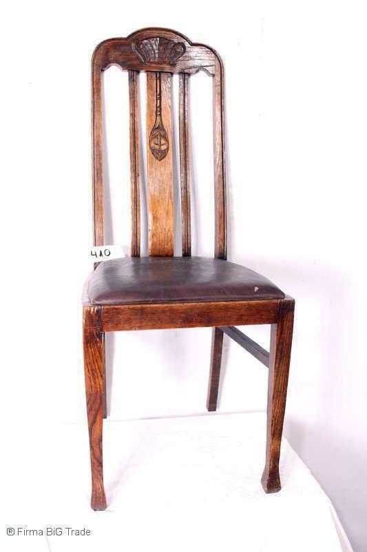 Eleganter Antiker Jugendstil Hochlehnenstuhl Salon Stuhl Eiche Massiv Lederstuhl Ebay Stuhl Eiche Lederstuhle Eiche Massiv