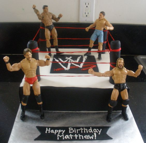 wwe birthday cake   Cakes By Perla: WWE Cake// I want to make this for Alex;s 9th birthday. I think he would be sooo excited to have this cake.