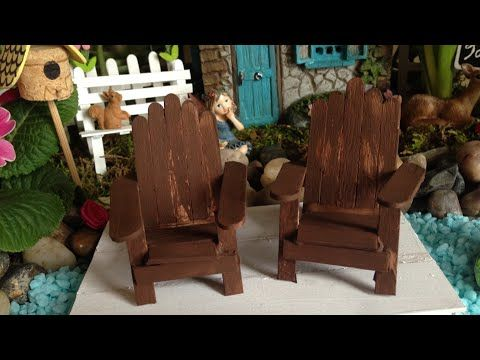 154 Fairy Garden Adirondack Chair Tutorial Youtube Fairy