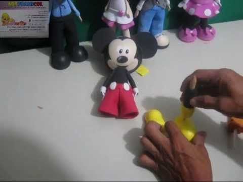 MICKEY MOUSE EN FOAMY CON MOLDES PARTE FINAL 2Y3