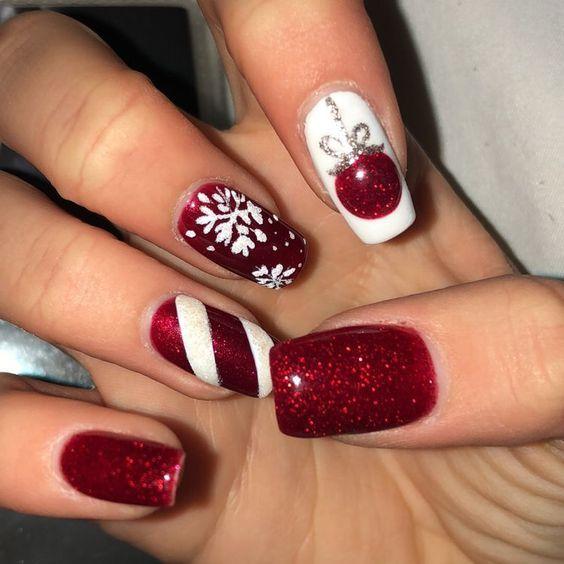 Essie Gel Couture Nail Polish 0 46 Fl Oz Christmas Nail Designs Cute Christmas Nails Christmas Nails