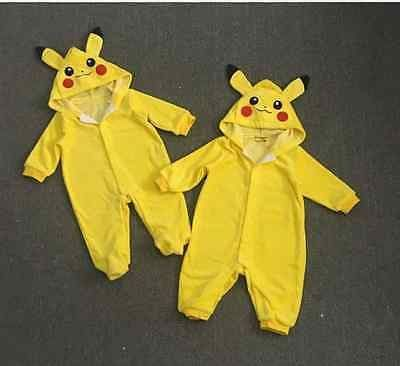 Become one of Pokemon Favorite creatures! The Pikachu jumpsuit is perfect for the little Pokemon Trainer and fan! Created with the finest materials this item will catch everyone's attention for sure!