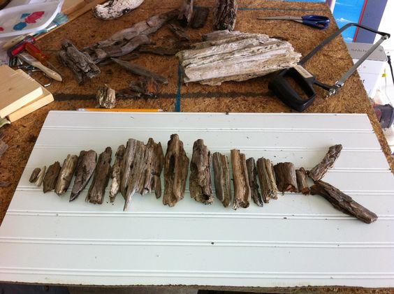 Fish from driftwood.