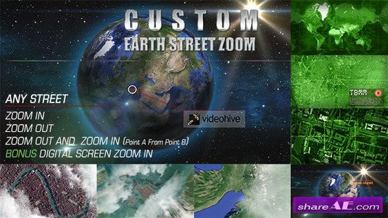 Videohive Earth Zoom Pro - After Effects Project motilia - best of videohive world map earth zoom free download