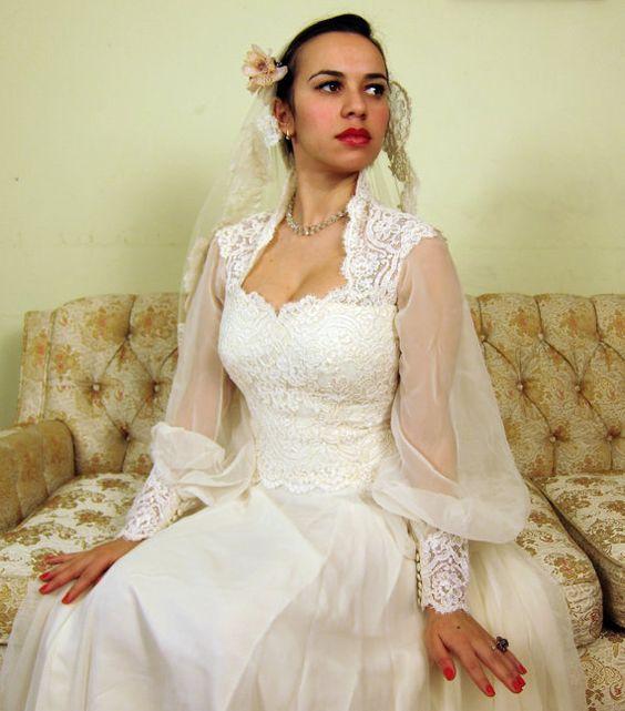 Vintage 1970s House of Bianchi Wedding Dress in by BasyaBerkman