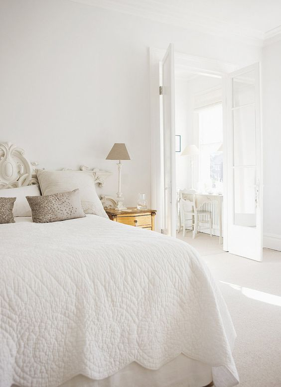 The Trick to Keeping Neutrals Far From Boring: Dreamy Bedroom, Adult Bedrooms, Bedroom Decor, Prettiest Bedrooms, White Bedrooms, Master Bedrooms, Serene Bedroom, Beautiful Bedrooms