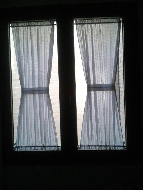 Sistemas para colgar visillos colocacin de visillos en ventana paso with sistemas para colgar Visillos para puertas