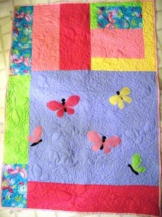 butterfly quilt from my studio