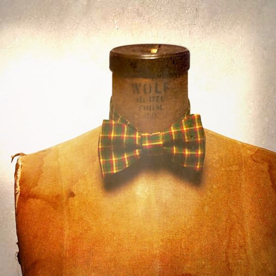 15% of with code MEMORIAL10 Men's Bow Tie  Geek Chic Number 42  Green and by theHouseofLux, $37.00