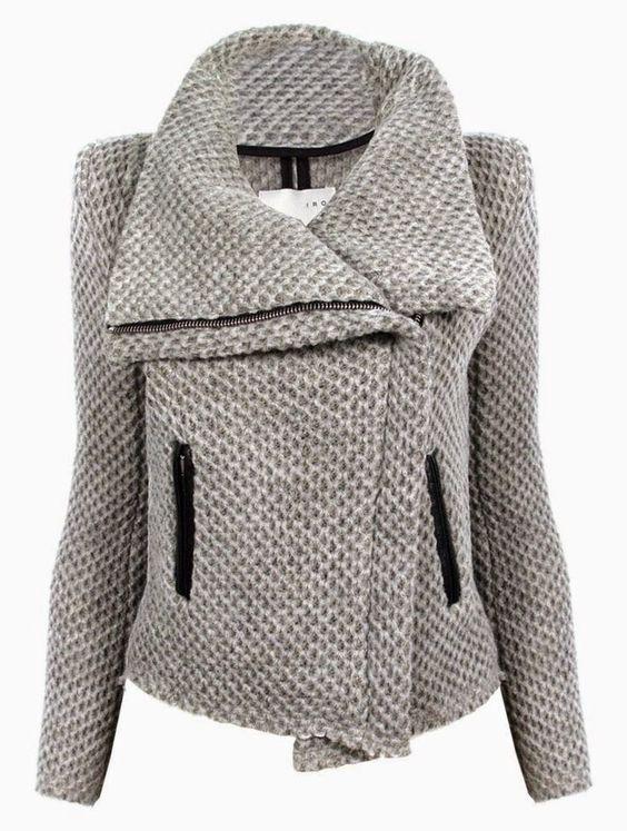 Quart coat pattern variation: transform it into a zipped biker jacket!