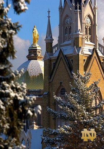 I Love Winter Notre Dame Campus Notre Dame University Norte