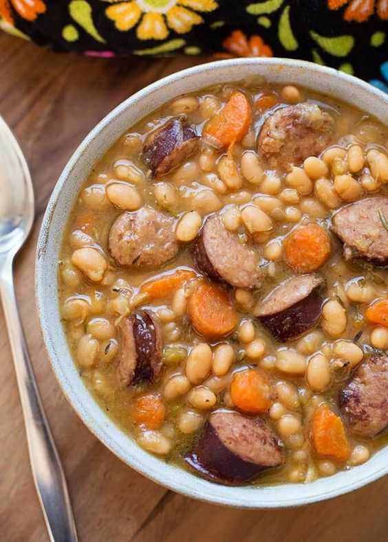 Instant Pot Smoked Sausage and White Beans
