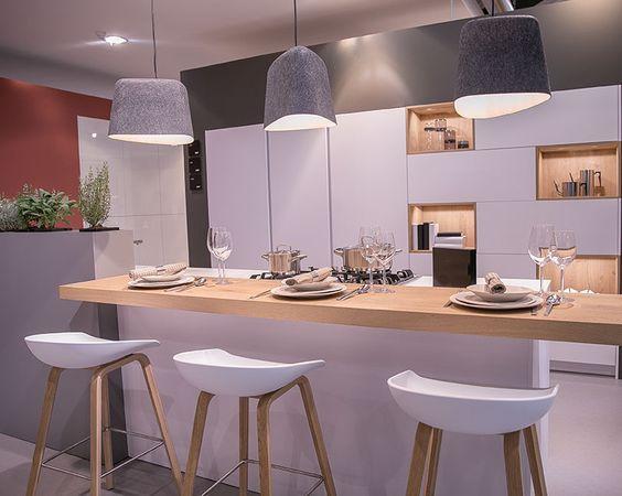 Beleuchtung Theke Küche - Leicht Küche cocina Pinterest - offene küche wohnzimmer trennen
