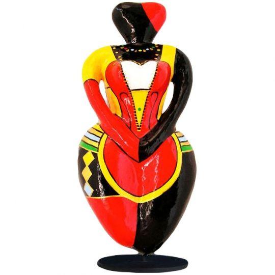 papier mache sculpture papier mach sculpture femme ronde lady heart objet d 39 art pop art. Black Bedroom Furniture Sets. Home Design Ideas