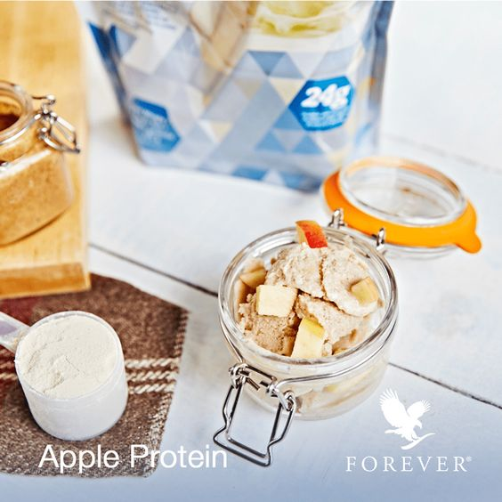 Try this delicious apple protein sorbet made with our Forever Lite Ultra Vanilla. We love it and hope you do too! #foreverliving #foreverfit #protein #proteinshake #icecream #sorbet #vanilla #summer