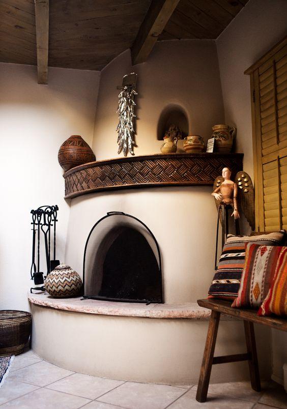 Santa Fe, New Mexico Kiva Fireplace // photograph by DESCRIBE THE FAUNA