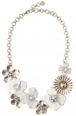Stella & Dot Dot Bloom necklace - a bridal statement- hand-painted enamel flowers are accented with Czech glass stones. No longer available.: