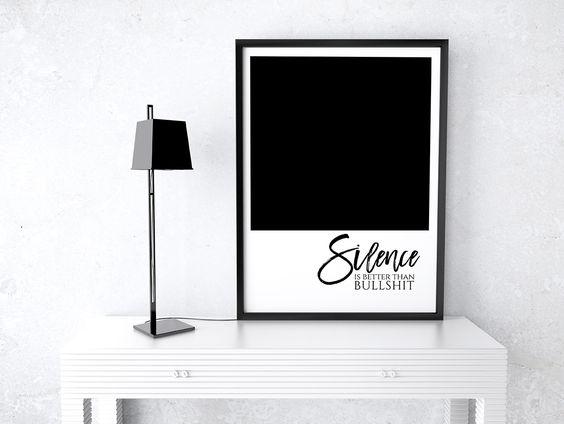 Typography Print   Silence   stephanie wuensche.com©