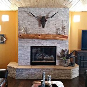 Fireplace Idea: Arizona Tile Silver Split Face Travertine ...