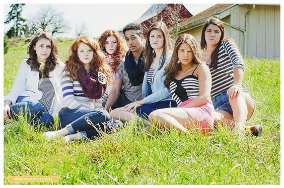 senior group posing
