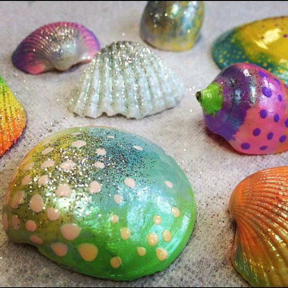 Painting Seashells With Nail Polish: Nail Polish Shells!! Finally Something To Do With All My